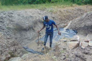 The Water Project: Machemo Community, Boaz Mukulo Spring -  Casting The Foundation