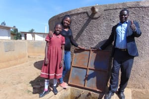 The Water Project: Namarambi Primary School -  All Smiles At The Rain Tank