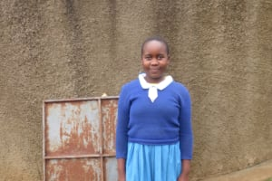 The Water Project: Lwakhupa Primary School -  Lavinah At The Rain Tank