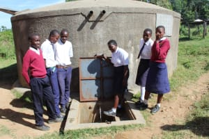 The Water Project: Lwakhupa Mixed Secondary School -  Students At The Water Point
