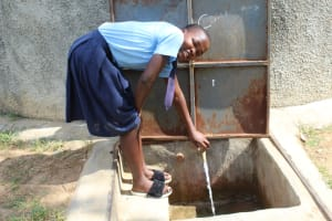 The Water Project: Musango Mixed Secondary School -  Seline At The Rain Tank