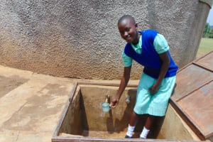 The Water Project:  Jackline Fetching Water To Drink