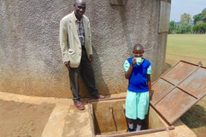 The Water Project:  Jackline With Teacher Mr Koikoi