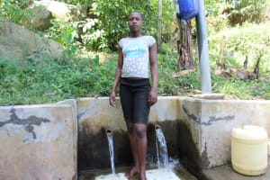 The Water Project: Bukhakunga Community, Khayati Spring -  Florah At The Spring