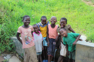 The Water Project: Musango Community, Ndalusia Spring -  Kids At The Spring