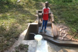 The Water Project: Rosterman Community, Kidiga Spring -  Festus At The Spring