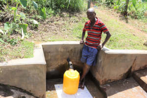 The Water Project: Mukangu Community, Lihungu Spring -  Gerald At The Water Point