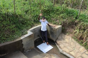 The Water Project: Lukova Community, Wasike Spring -  Sammy Waves From The Spring
