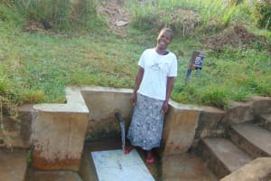 The Water Project: Musango Community, Emufutu Spring -  Norah At The Spring