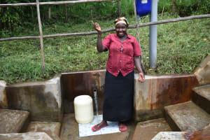 The Water Project: Bukhakunga Community, Mukomari Spring -  Pamela Muyeku At The Spring