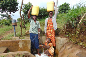 The Water Project: Musango Community, Mwichinga Spring -  People At The Water Point