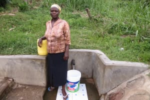 The Water Project: Bukhaywa Community, Asumani Spring -  Adelaide At The Spring
