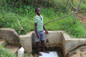 The Water Project: Musango Community, Mushikhulu Spring -  Jovine At The Spring