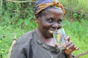 The Water Project: Musango Community, Mushikhulu Spring -  Juliana Takes A Drink