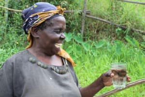 The Water Project: Musango Community, Mushikhulu Spring -  A Light Moment With Juliana