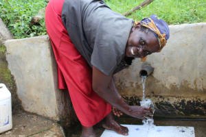 The Water Project: Musango Community, Mushikhulu Spring -  Easy To Get A Fresh Drink