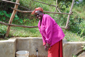 The Water Project: Musango Community, Mushikhulu Spring -  Smiles At The Spring