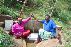 The Water Project: Musango Community, Mushikhulu Spring -  Unity Over Clean Water