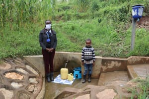 The Water Project: Shihungu Community, Shihungu Spring -  Field Officer Olivia With Newvelly