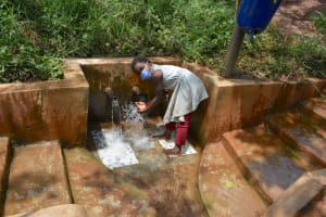 The Water Project: Namarambi Community, Iddi Spring -  Felicia At The Spring