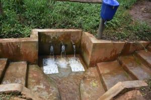 The Water Project: Namarambi Community, Iddi Spring -  Water Gushing