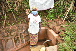 The Water Project: Shisere Community, Francis Atema Spring -  Mary Wendo At The Spring