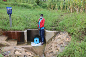 The Water Project: Shihingo Community, Inzuka Spring -  Sharon At The Spring