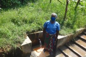 The Water Project: Mubinga Community, Mulutondo Spring -  Truphena At The Spring