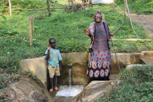The Water Project: Shamiloli Community, Kwasasala Spring -  Joseph And Ebby At The Spring