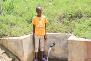 The Water Project: Ikonyero Community, Amkongo Spring -  Reagan At The Spring