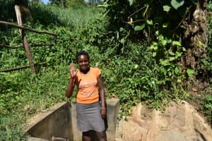 The Water Project: Imbinga Community, Imbinga Spring -  Ruth Waves From The Spring