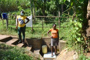 The Water Project: Imbinga Community, Imbinga Spring -  Ruth With Field Officer Jemmimah
