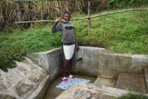 The Water Project: Bukhaywa Community, Shidero Spring -  Gloria At The Spring