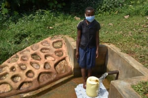 The Water Project: Jivovoli Community, Magumba Spring -  Dorcas At The Spring