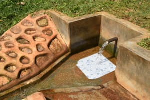The Water Project: Jivovoli Community, Magumba Spring -  Clean Water Flows