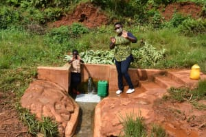The Water Project: Shisere Community, Richard Okanga Spring -  Ketride And Field Officer Jacklyne