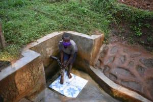 The Water Project: Shamakhokho Community, Imbai Spring -  Ian Rinsing Off