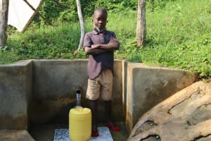 The Water Project: Buyangu Community, Osundwa Spring -  Keith Posing At The Spring