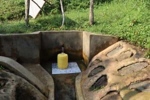 The Water Project: Buyangu Community, Osundwa Spring -  Water Flowing