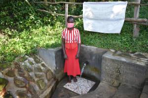 The Water Project: Bukhaywa Community, Ashikhanga Spring -  Melissa At The Spring