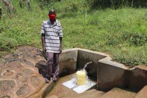 The Water Project: Shikangania Community, Abungana Spring -  Mr Jared Eboyi