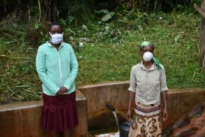 The Water Project: Masuveni Community, Masuveni Spring -  Fied Officer Rose With Janet