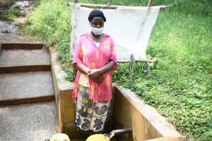 The Water Project: Bumavi Community, Joseph Njajula Spring -  Judith Kisevo At The Spring