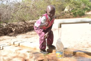 The Water Project: Katovya Community A -  Thumbs Up