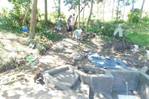The Water Project: Shianda Township Community, Olingo Spring -  Backfilling Continues