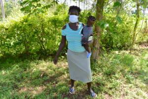 The Water Project: Musango Commnuity, Wabuti Spring -  Jamila Omwivanda With Her Baby