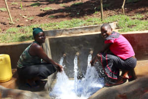 The Water Project: Shihome Community, Peter Majoni Spring -  Ruth And Flavian At The Spring