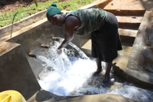 The Water Project: Shihome Community, Peter Majoni Spring -  Ruth At The Spring