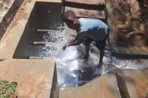 The Water Project: Shihome Community, Peter Majoni Spring -  Water Celebrations