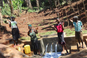 The Water Project: Shihome Community, Peter Majoni Spring -  Celebratingt The Spring
